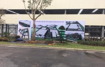 Lắp đặt Backdrop – Nhà máy Hyundai Thành Công