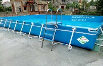 Bể bơi lắp ghép, KT: 6.6m x 14.1m x 1.2m