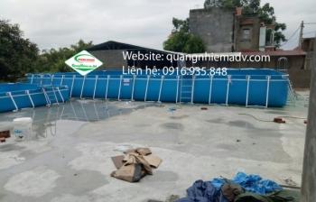 Bể bơi lắp ghép, KT: 6.6m x 20.1m x 1.2m