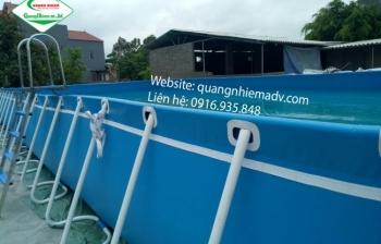 Bể bơi lắp ghép KT: 9.6m x 20.1m