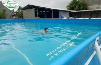 Bể bơi di động, KT: 8.1m x 14.1m x 1.2m