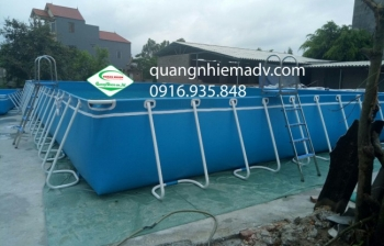 Bể bơi khung kim loại, KT: 9.6m x 20.1m x 1.2m