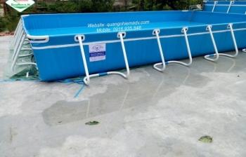 Bể bơi di động,KT: 8.1m x 21.6m x 1.2m