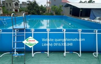 Bể bơi di động, KT: 8.1m x 12.6m x 1.2m