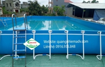 Bể bơi lắp ghép, KT: 6.6m x 12.6m x 1.2m