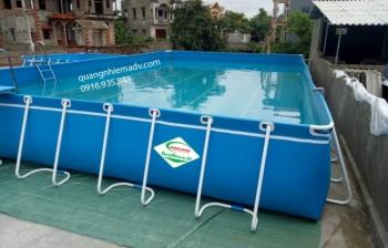 Bể bơi lắp ghép, KT: 6.6m x 18.6m x 1.2m