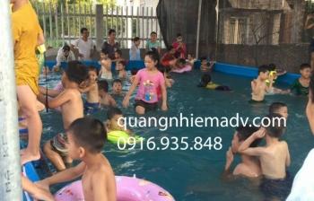 Bể bơi lắp ghép KT: 8.1m x 14.1m