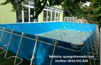 Lắp đặt bể bơi di động thông minh tại trường học Việt Pun – Sài Đồng