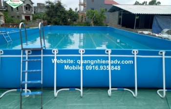 Bể bơi lắp ghép, KT: 6.6m x 15.6m x 1.2m