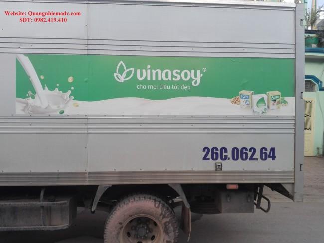 thi công lắp đặt băng rôn biển quảng cáo vinasoy